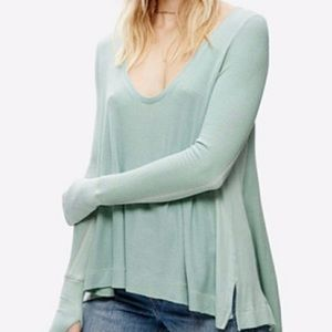 Cynthia Rowley Long Sleeve Scoop Neck Top Size S